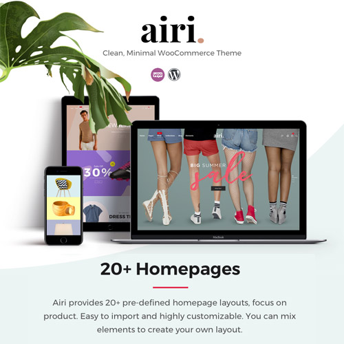 Airi – Clean, Minimal WooCommerce Theme