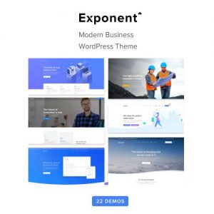 Exponent – Modern Multi-Purpose Business WordPress theme
