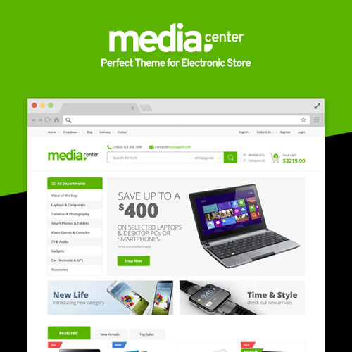 MediaCenter – Electronics Store WooCommerce Theme