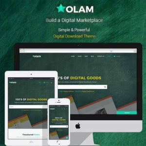 Olam – WordPress Easy Digital Downloads Theme, Digital Marketplace, Bookings