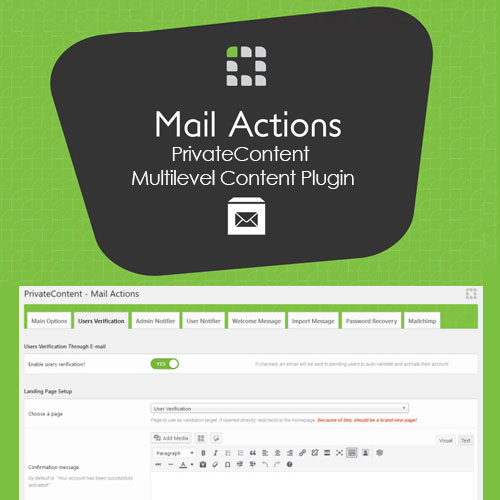 PrivateContent – Multilevel Content Plugin